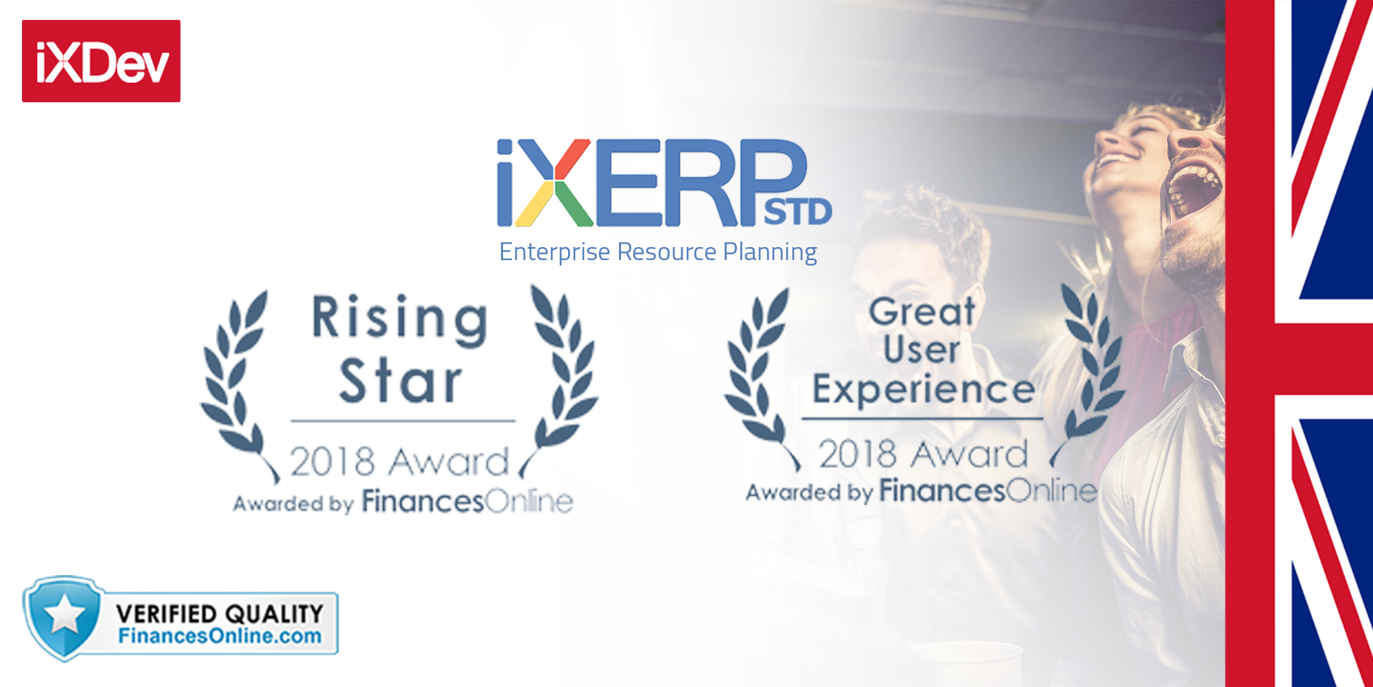 iXERP Standard 2018 Software Awards for ERP Software from FinancesOnline.com for SAAS Reviews